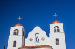 Church With Two Copper Crosses Stock Photography