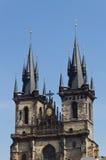 Church Tyn in Prague. Czech Republic Royalty Free Stock Photo