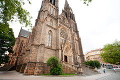 Church in a typical neo-Gothic style Royalty Free Stock Image