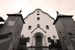 Church in Tyrol, Austria. Austrian resort Stock Photo