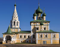 Church in Uglich. Orthodox church in ancient russian town Uglich captured on a sunny day Stock Image