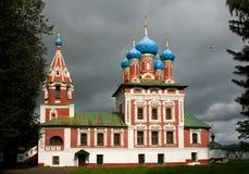 Church in Uglich. Church of Tsarevich Dmitriy who was son of Ivan the Terrible and Maria Nagaya Royalty Free Stock Photo