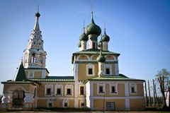 Church in Uglich. Yaroslavl region, Russia Stock Image
