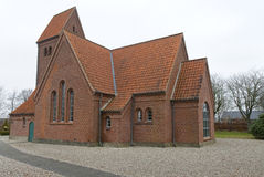The Church at Uhre. Small church in the village Uhre near Brande, Denmark Stock Images