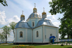 Church in the Ukraine. A small, white church in the Ukraine Royalty Free Stock Photo