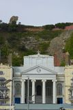Church under cliffs in Hastings town. England Royalty Free Stock Images
