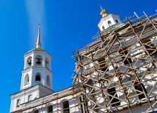 Church under construction Royalty Free Stock Photos