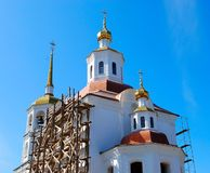 Church under construction Royalty Free Stock Images