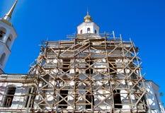 Church under construction Stock Photos