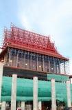 The church is under construction. Wat Krok Krak, Samutsakorn, Thailand Stock Photos