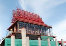 The church is under construction. Wat Krok Krak, Samutsakorn, Thailand Stock Images
