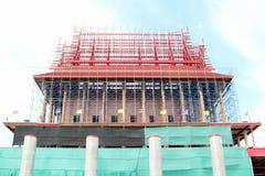 The church is under construction. Wat Krok Krak, Samutsakorn, Thailand Stock Photo