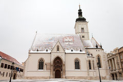 Church under snow Royalty Free Stock Image