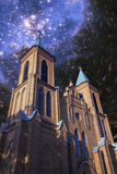 Church Under The Stars Stock Photos