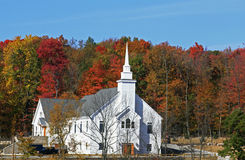 Church in upstate New York. On a beautiful Royalty Free Stock Images