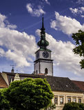 Church in Urban Landscape Royalty Free Stock Photography