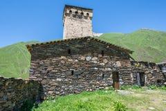 Church in Ushguli Stock Photo
