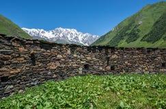 Church in Ushguli Stock Images