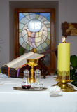 Church utensil on an altar Royalty Free Stock Photography