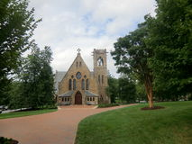 Church at UVA Grounds. Church at University of Virginia Grounds, Charlottesville, Virginia. picture taken during summer Royalty Free Stock Photography
