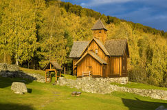 Church, Uvdal Stavkirke. Wooden church of Uvdal Stavkirke, Norway Stock Images