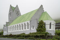 Church of Vaag, Faroe Islands Royalty Free Stock Photos