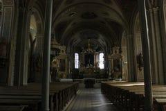 Church in Val Gardena, Italy. Royalty Free Stock Image