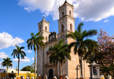 Church in Valladolid, Mexico Royalty Free Stock Photo
