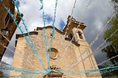 Church of valldemossa Royalty Free Stock Images