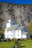 Church in Valle. Church of Valle in Norway Stock Photo