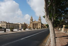 Church in Valletta Royalty Free Stock Photography