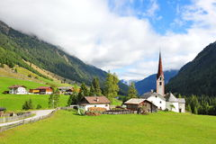Church in a valley in Austria Stock Photos