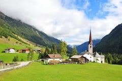 Church in a valley in Austria Stock Photos