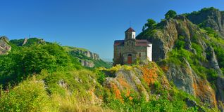 Church in valley Kuban Royalty Free Stock Photo