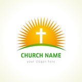 Church vector logo. Royalty Free Stock Images