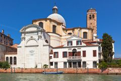 Church at Venice Grand canal Stock Photo