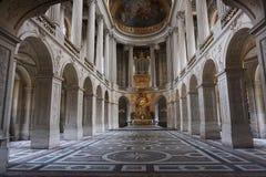 Church at Versailles Chateu. The church inside Versailles Chateu in Paris France Royalty Free Stock Photo