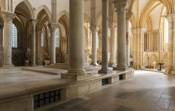 Church of Vezelay Pillars Interior royalty free stock photos