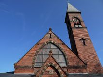 Church: Victorian Gothic brick detail Royalty Free Stock Image