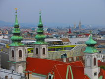 Church and Vienna skyline Royalty Free Stock Images