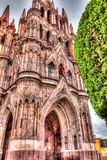 Main church of San Miguel de Allende in Mexico stock images