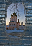 Church in a vignette from ice Royalty Free Stock Photography