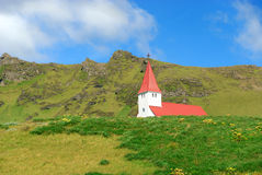 Church at Vik in Iceland Stock Image
