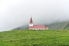 Church at Vik, Iceland. Church and fog at Vik, Iceland Royalty Free Stock Photo