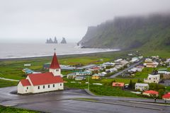 Church in Vik, Iceland Stock Photo