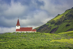 Church in Vik - Little Town in Southern Iceland Royalty Free Stock Photo