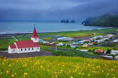 Church in Vik Southern Iceland. Church in Vik, Little Town in Southern Iceland Royalty Free Stock Photography