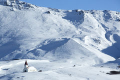 Church of Vik in wintertime, Iceland Stock Photos