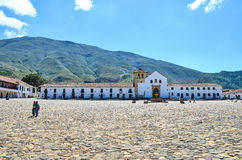 The church of Villa de Leyva Stock Images