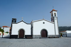 Church in village Alfarero del Arguayo, Tenerife, stock photos